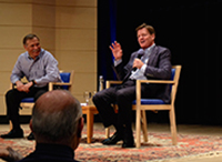 "Michael Lewis Riffs on Wall Street, ""Flash Boys,"" and his First meeting with President Obama"