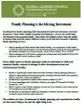 Policy Brief: Family Planning is the Missing Investment